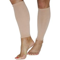 AMPS Women's Calf Compression Sleeve Covers from Above Ankle to Bottom of Knee 20-30mmHg at ankle Graduated Compression Decreases up the leg Improves Blood Circulation Reduces & Relieves Swelling, ...