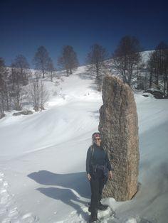 Un menhir in #Lessinia vicino al Parparo Vecchio