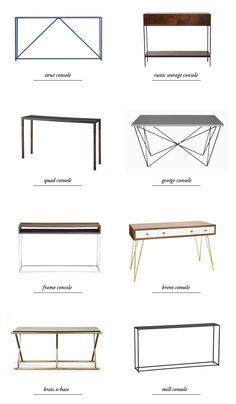 modern console table round-up // smitten studio