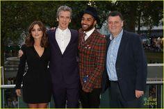 Jenna Coleman, Peter Capaldi, Samuel Anderson, and Steven Moffat