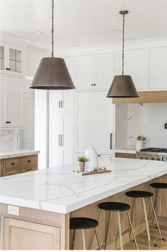 dark-nickel-lights-over-gold-wood-kitchen-island-transitional-kitchen delivers online tools that help you to stay in control of your personal information and protect your online privacy. Home Decor Kitchen, Kitchen Interior, New Kitchen, Home Kitchens, Kitchen White, Design Kitchen, L Shape Kitchen, Neutral Kitchen Designs, Gold Kitchen