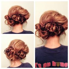 Crazy braid into an updo #hair #hairstyle