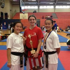 It was a MTKD sweep when Abby Brittain won 1st, Shannon Donlon took 2nd, and Erin Donlon placed 3rd in their division at Spar Wars in Dickson, TN, Sept. 29, 2012.