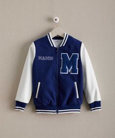 Mens Womens VARSITY JACKET Letterman Initials Sports Ski Warm Winter Jacket Various Colours Teen Father& Son Mother Daughter Custom Printed 2xnuHbpSO