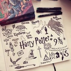 Sketbook-This caught my attention because I am a huge Harry Potte fan . - Sketbook-This caught my attention because I am a huge fan of Harry Potter. Harry Potter Fan Art, Harry Potter Journal, Harry Potter Tattoos, Harry Potter Collage, Harry Potter Light, Harry Potter Sketch, Harry Potter Drawings, Harry Potter Quotes, Harry Potter Symbols