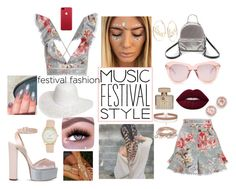 """Flower Child of Coachella"" by kae-mitch on Polyvore featuring Zimmermann, Giuseppe Zanotti, Steve Madden, Dorothy Perkins, Karen Walker, Gucci, Miss Selfridge, Nine West, Dana Rebecca Designs and Charlotte Russe"