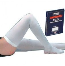 c4a655073 Available in white with a closed toe which provides added comfort Thigh-length  compression stockings ...