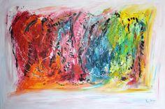 regard sur l'imaginaire 130 x 89 cm 1250 € tableau contemporain unique à découvrir sur amesauvage.com
