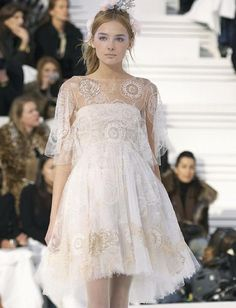 From Russia with Love: beaded Chanel dress. #romanticwedding