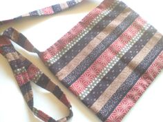 Brown and Rust Striped Cross Body Hobo Bag by PhreshThreadz, $42.00