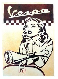 O meu sonho p este verão Scooters Vespa, Piaggio Scooter, Moto Scooter, Vespa Ape, Vespa Girl, Scooter Girl, Poster Retro, Vintage Posters, Vespa Italy