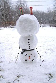 snowman doing a handstand
