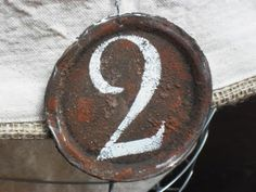 Rusty tag made from canning jar lid