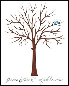 DIY Wedding Tree Guest Book | ... Tree Guestbook Alternative Extra Large With Birds in your Wedding