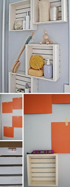 Check out the tutorial: #DIY Crate Shelves #crafts #homedecor