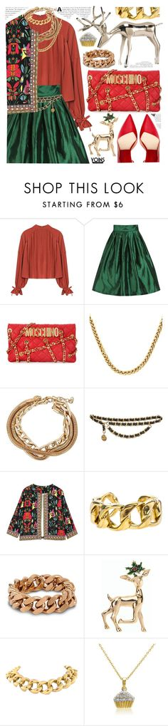 """Yoins collection"" by pastelneon ❤ liked on Polyvore featuring Moschino, Chanel, STELLA McCARTNEY, Talbots, Seaman Schepps and Amanda Rose Collection"