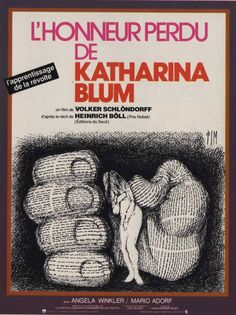 """l'honneur perdu de katharina blum"" de Volker Schlondorff avec Angela Winkler, Mario Adorf, Dieter Laser, Jürgen Prochnow, Heinz Bennent ...- Allemagne. 1975"