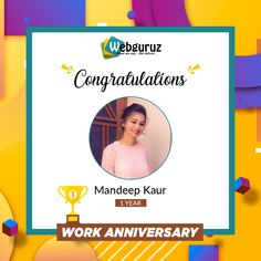 Congratulations👍 and Happy First Work Anniversary Mandeep.  Success follows those who never quit in life and works hard. You are one of them.  Wishing you the best for continued success!  #Webguruz #WorkAnniversary #Congratulations #CoworkerAppreciation #Congrats Work Anniversary, Wish You The Best, Appreciation, It Works, Congratulations, Success, Happy, Life, Ser Feliz