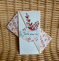 Carte-pliage04 Mini Albums Scrap, Kirigami, Origami Art, Happy Mail, Pop Up, Paper Size, Card Templates, Quilling, Stampin Up