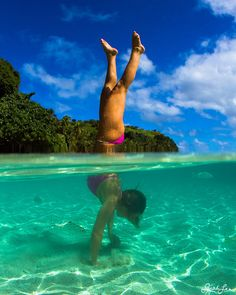 handstand in paradise - photo Sarah Lee