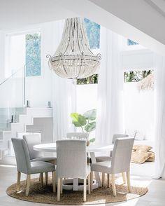 "THREE BIRDS RENOVATIONS (@threebirdsrenovations) on Instagram: ""THE VOID Reveal!  I want to live here... #threebirdsrenosix #lanasforeverhome | Dining Table,…"""