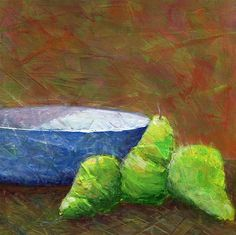 Bowl with Pears by Karyn Robinson Pears, Art For Sale, Original Art, Wall Art, Painting, Painting Art, Paintings, Paint, Draw