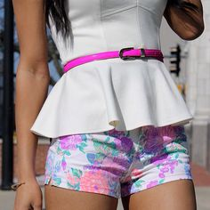 bold floral shorts for #summer