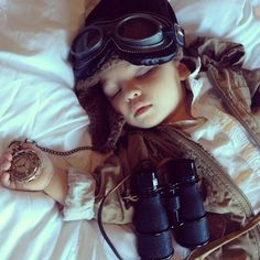 All tuckered out #steampunk style one day..... :)
