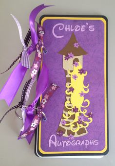 Handmade Custom Disney Autograph Book Rapunzel.   via Etsy.