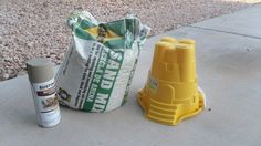 Next time you're at the Dollar Store, grab a plastic sandcastle bucket and make this adorable idea for your yard!