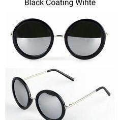 Black frame silver lens mirror unisex sunglasses 5 Black frame silver lens mirror unisex sunglasses 58mm Accessories Sunglasses
