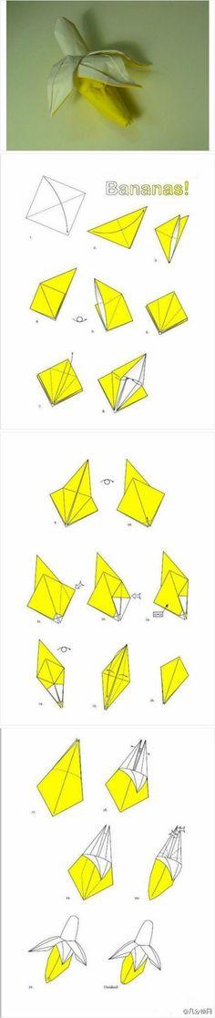 กล้วย Origami