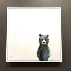 Adorable bear print. Available in many sizes and print styles. Shop: Brattdecor.com #artwork #nursery #bear #neutral