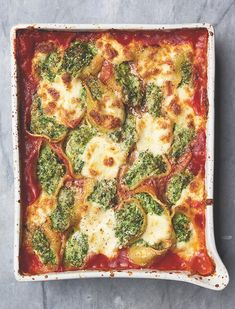 Gizzi Erskine's kale, spinach and ricotta stuffed conchiglioni. Photographs: Issy Croker for the Guardian.