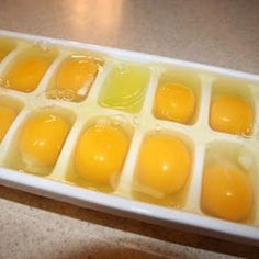 Freezing eggs, can be kept up to a year...just thaw at room temp and use as normal.  Who knew!