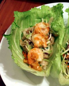 Shrimp Lettuce Wraps Oh these look so good!