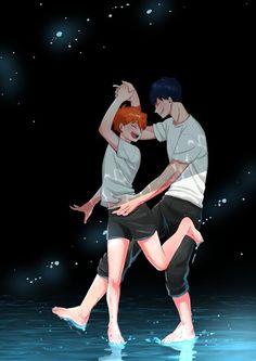 Haikyuu Kageyama, Manga Haikyuu, Haikyuu Funny, Haikyuu Fanart, Manga Anime, Fanarts Anime, Anime Films, Anime Guys, Kagehina Cute