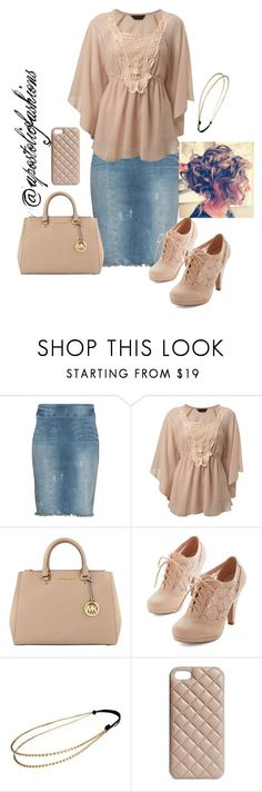 """Apostolic Fashions #262"" by apostolicfashions ❤️ liked on Polyvore featuring NSF, Miss Selfridge, MICHAEL Michael Kors, Chicnova Fashion and The Case Factory"