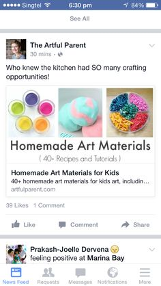 Home made art materials