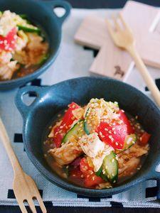 レンジで簡単♪『ささみときゅうりとトマトの香味中華あえ』 by Yuu | レシピサイト「Nadia | ナディア」プロの料理を無料で検索