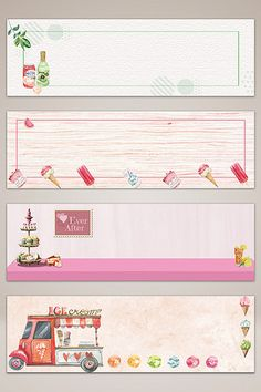 Hand drawn cartoon food dessert banner poster background#pikbest#backgrounds Creating A Bullet Journal, Bullet Journal Banner, Bullet Journal Ideas Pages, Eid Stickers, Address Stickers, Eid Crafts, Diy And Crafts, Japanese Wallpaper Iphone, Promotional Stickers