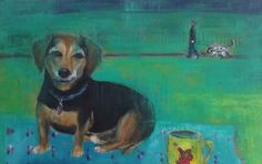Acrylic painting by scampandhoney on Etsy My Etsy Shop, Unique Jewelry, Handmade Gifts, Dogs, Painting, Vintage, Art, Kid Craft Gifts, Art Background
