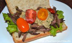 Sandwich rece cu resturi de friptură