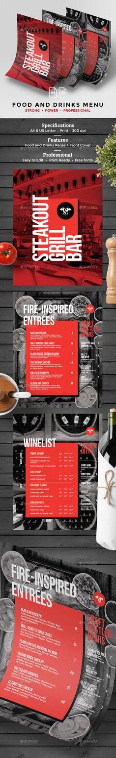 Cocktail Drinks Menu - #Food #Menus Print #Templates Download here - drinks menu template