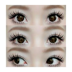 ;3 We Heart It ❤ liked on Polyvore featuring beauty products, eyes, makeup, circle, circular and round