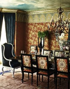 Beverly Hills Estate eclectic dining room