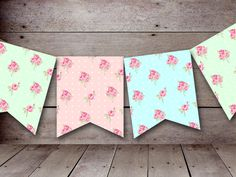FREE printable bunting & garland decorations perfect use for mini party bunting / garland as cake topper decoration or as hanging decoration on the wall