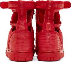 Christian Peau Red Lizard Skeleton High-Top Sneakers