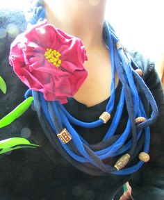 Recycled Tshirt Necklace: Recycle Your Old T-shirt Into A Beautiful Necklace.