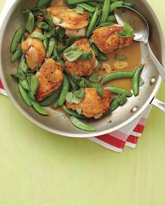 Chicken and Snap Peas - 30 minutes. one pan. fabulous!
